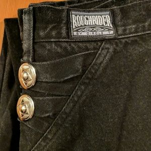 Roughrider 7/8 x 36 Black Retro Western Mom Jeans